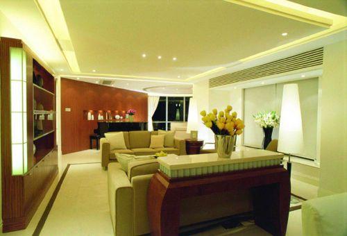朴素现代靓丽客厅装修布置