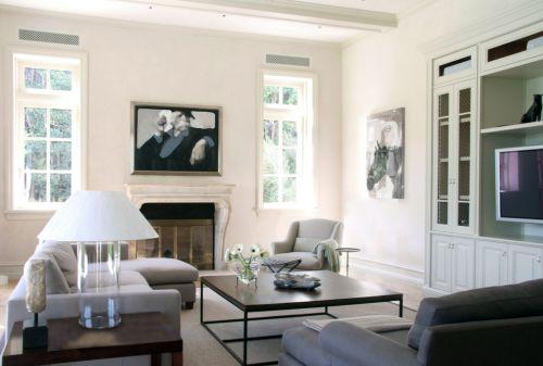 清爽雅致现代风格白色客厅装修图片