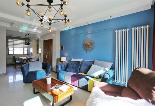 现代风格蓝色客厅设计欣赏