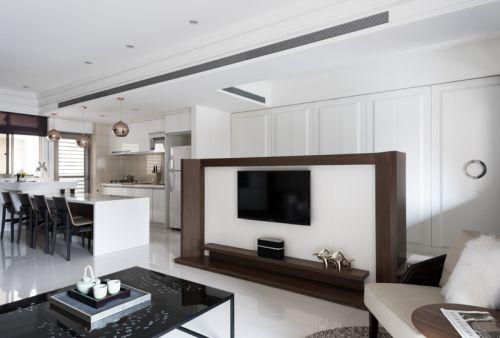 白色现代风格客厅装修设计图片