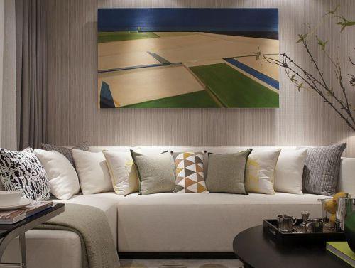 米色现代风格客厅装修设计
