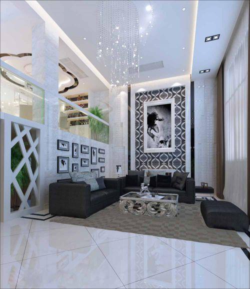 现代简洁客厅布局