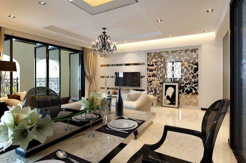 时尚现代风格设计客厅效果图欣赏