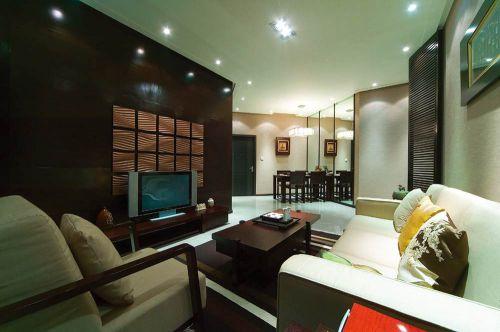 现代简洁客厅布置欣赏
