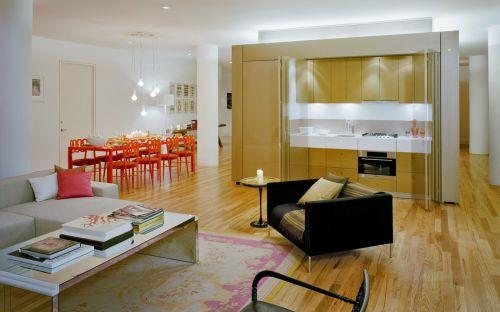 黄色素雅现代风格客厅装饰案例