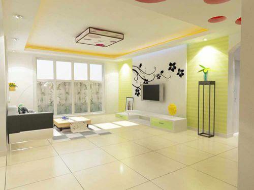 现代清新舒适客厅装修案例
