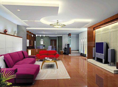 沉稳现代风格客厅装潢