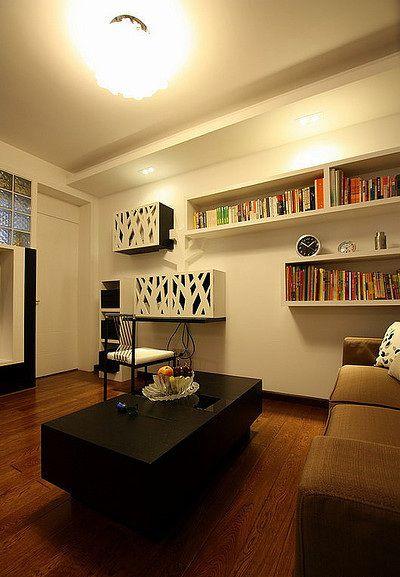 现代风格大方清爽客厅装潢美图