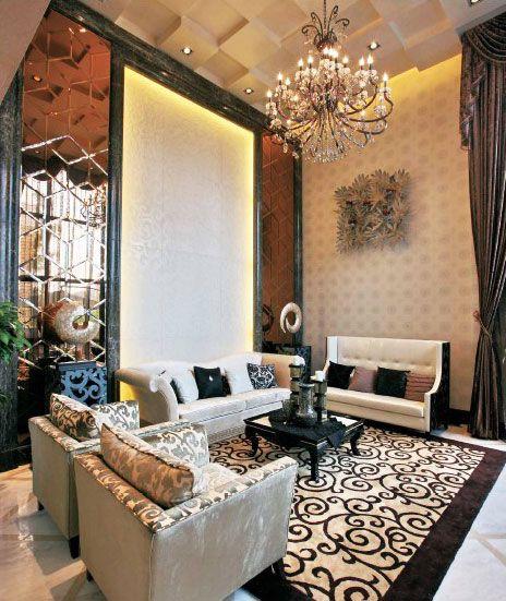 米色雅致现代风格客厅美图欣赏