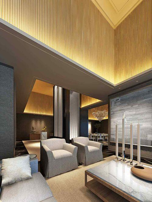 现代风格别墅时尚客厅布置