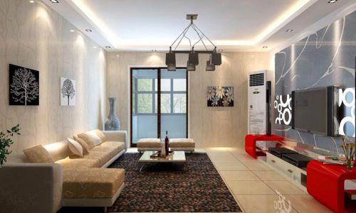 创意新潮现代风格客厅装潢设计
