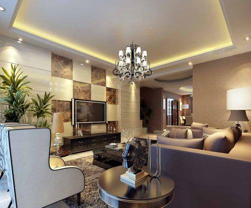 现代小清新客厅装修效果欣赏