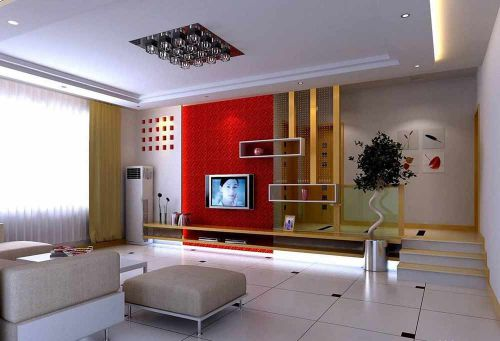 清新现代时尚客厅装潢