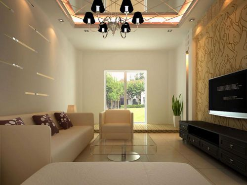 淡雅婉约气质现代风格客厅装潢设计