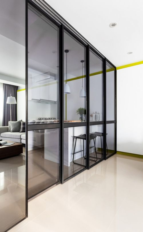 现代时尚客厅隔断设计