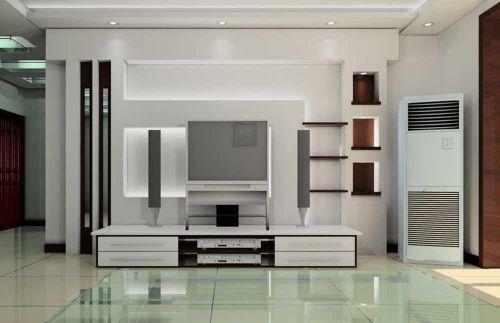 极简设计现代风格客厅电视背景墙展示