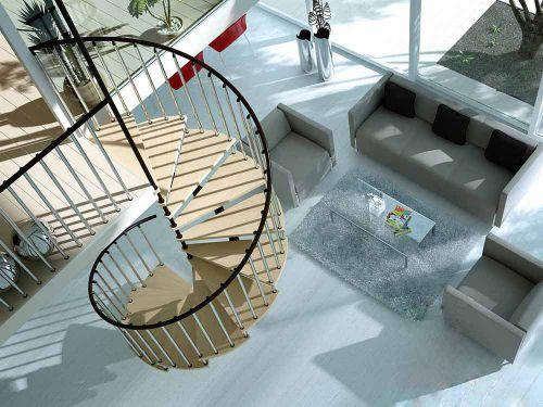 现代客厅楼梯装修设计