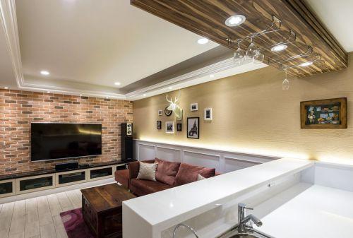米色大气现代风格客厅设计图片