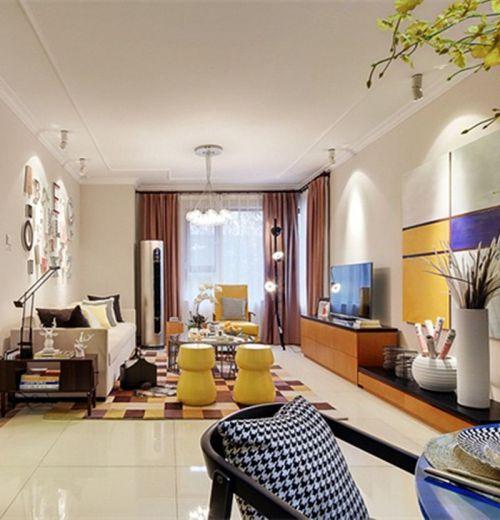 白色个性摩登现代风格客厅装饰案例