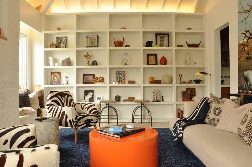 2016米色现代风格客厅效果图设计