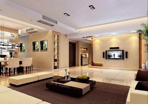 时尚裸色现代风格客厅装潢