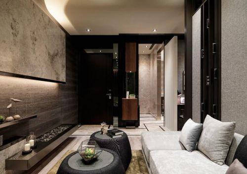 大气深沉现代风格客厅装潢案例