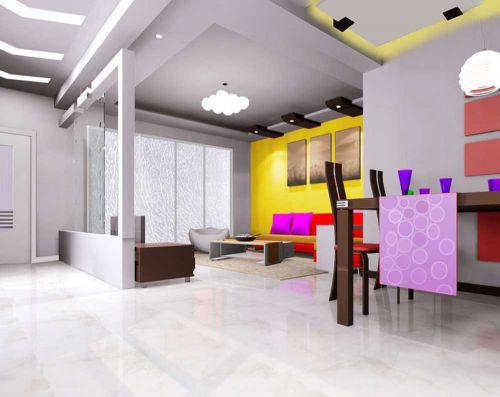 创意现代客厅设计效果图