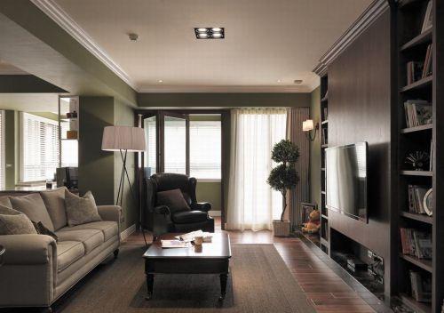 黑色现代凝练风格客厅效果图欣赏