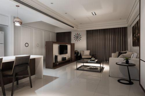 凝练大气现代风格客厅装潢效果图设计