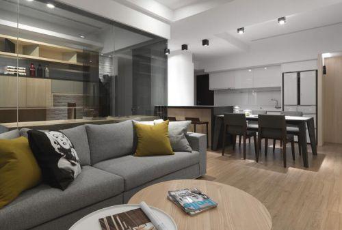 现代风格灰色客厅装饰图欣赏