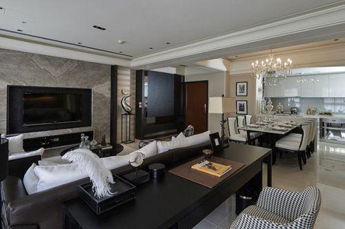 现代利落设计客厅大气装修效果图