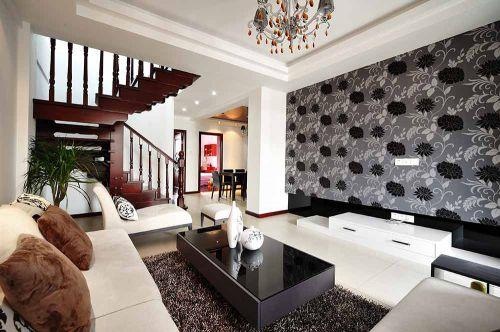 摩登个性现代风格客厅效果图