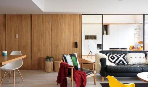 米色时尚现代风格客厅装修设计
