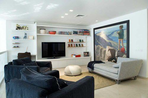 时尚清新现代艺术风客厅装修实例