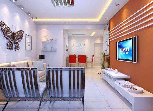现代简洁舒适客厅装修案例欣赏
