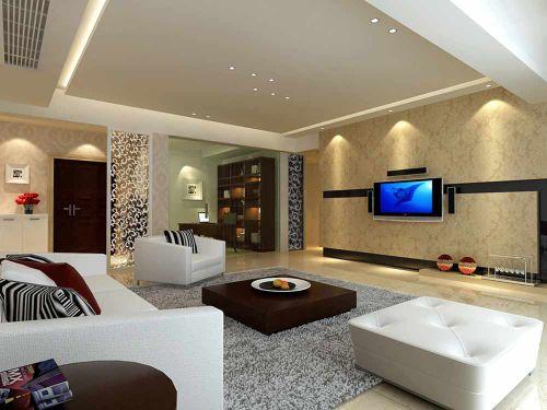 高品质现代风格客厅整体装修欣赏