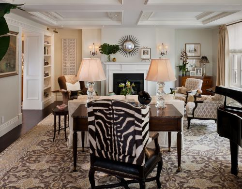 现代风格米色温馨客厅设计案例