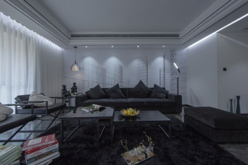 现代简约风格客厅装潢案例