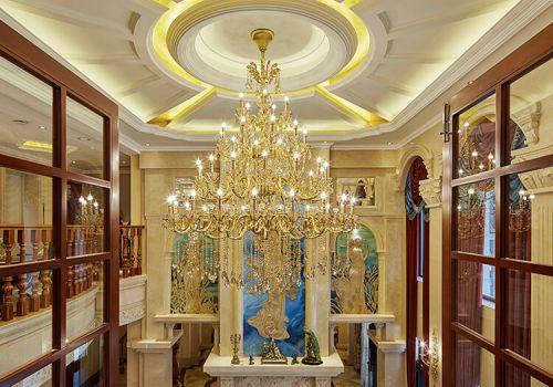 精美欧式水晶灯吊顶欣赏