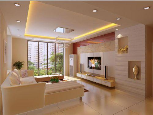 精致唯美现代风格客厅装潢装修