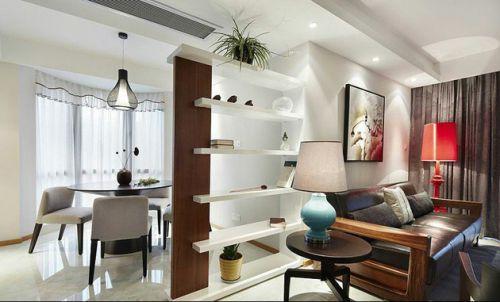 休闲中式客厅隔断设计