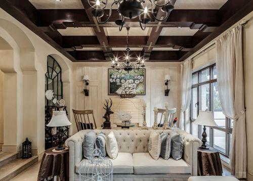 欧式森系小客厅设计