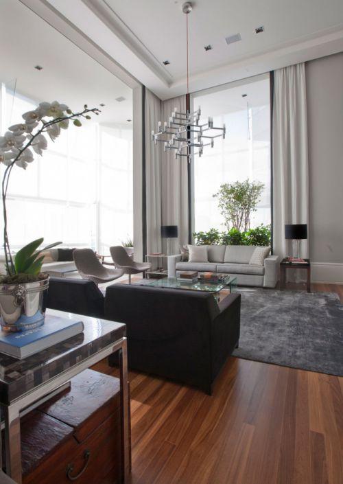 现代风格灰色客厅设计赏析