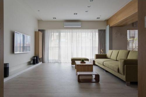 灰色现代风格客厅设计案例欣赏