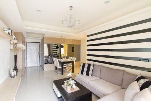 2016米色现代风格客厅装修设计