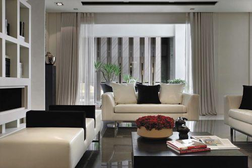 2016米色现代风格客厅设计图片
