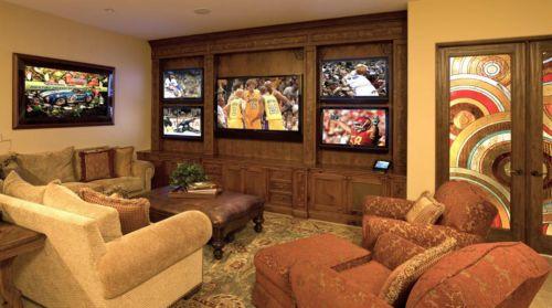 沉稳舒适大庆美式现代风格客厅装修布置