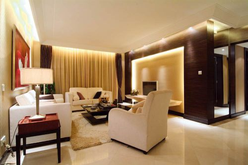 雅致现代风格客厅装修案例