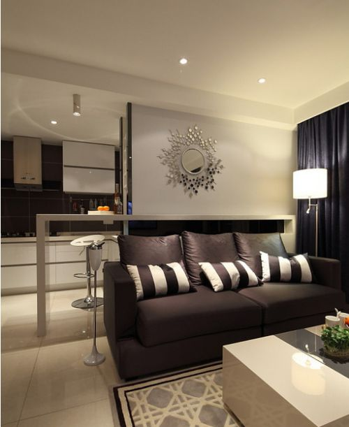 米色现代时尚雅致客厅装修图片
