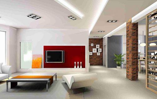 创意个性现代风格客厅装修效果图